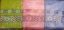 Полотенце махровое 1м х 0,5м.  Ромашка. 3 цвета