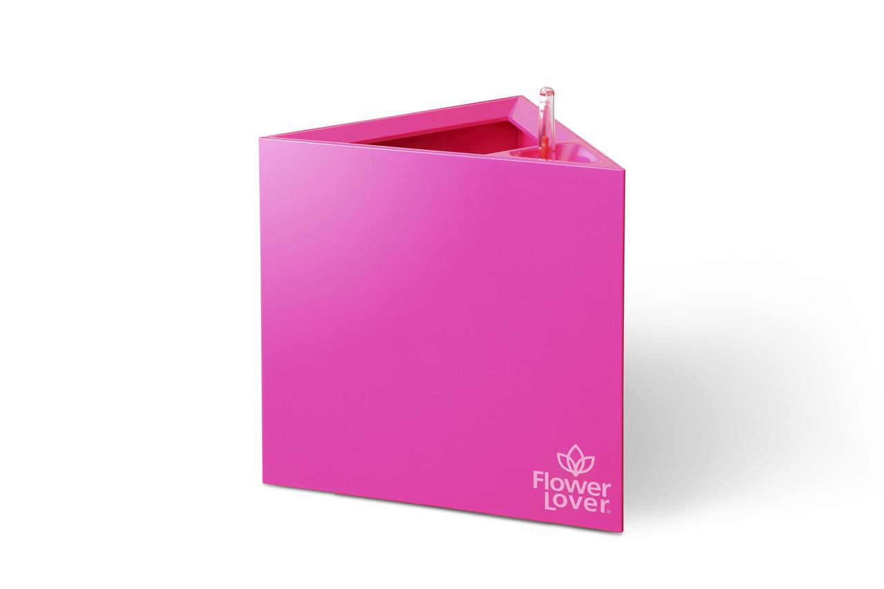 Умный вазон с системой автополива Triangle  Flower Lover  21x21x21 см глянецевый PLASTKON Розовый