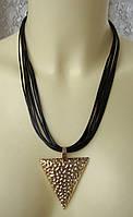 Ожерелье женское колье модное подвеска металл кристаллы ювелирная бижутерия 5580