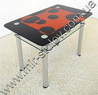 Кухонный стол Maxi Dt r 1100/700 (2) черный с рисунком