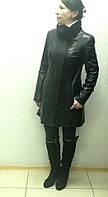 Френч кожаный натуральный женский черный