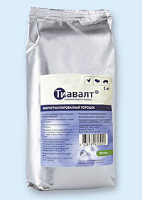 Тиавалт 45 % гранулы KRKA (Словения) 1 кг ветеринарный антибактериальный препарат широкого спектра действия