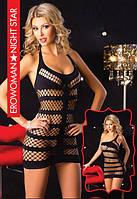 Платье сетка черное  Erowoman Night Star