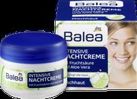 Интенсивный ночной крем для молодой кожи лица Balea Intensive Nachtcreme mit Fruchtsaure und Aloe Vera 50 мл.