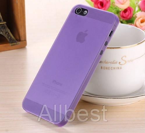 Чехол бампер для телефона Iphone5\5S фиолетовый