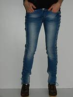Тонкие джинсы на шнуровке UNO1462  летние рр.28