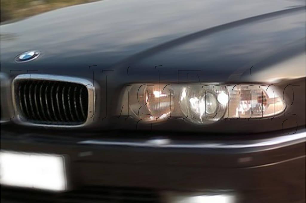 BMW E38 - замена моно линз на биксеноновые линзы в фарах