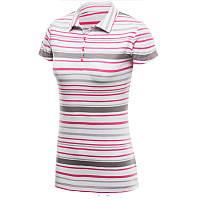 Женская футболка поло Columbia ROCKY RIDGE™ STRIPE POLO розовая