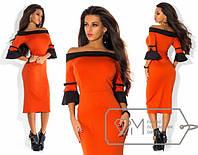 Платье женское нарядное трикотажное
