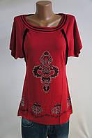 Туника женская красная с рисунком