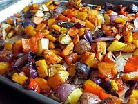 Овощи запеченные с луком