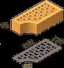 Кирпич клинкерный фасонный Керамейя Клинкерам  250x120x65 мм Рубин  36%, фото 4
