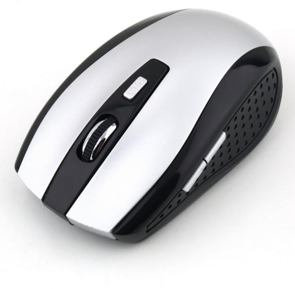 Беспроводная мышь Receiver Wireless 2.4GHz (Серебро)