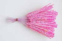 Тычинка для цветка длинная, розовая