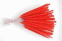 Тычинка для цветка длинная,красная