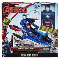 AVN Титаны: Фигурки Мстителей (30см) на транспортном средстве Айрон Патриот B0431, фото 1