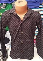 Рубашка для мальчика 6-14 лет (стрейч 004) (пр. Турция)