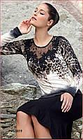 Блуза с леопардовым принтом Eden Rose 5019