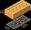 Кирпич клинкерный Керамейя Клинкерам  250x120x65 мм Янтарь Пр1 48%, фото 2
