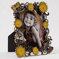 """Элитная рамочка """"Бабочки в цветах""""12х15 см, для фото 9х13 см"""