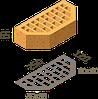 Кирпич клинкерный фасонный Керамейя Клинкерам  250x120x65 мм Янтарь 36%, фото 5