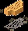 Кирпич клинкерный фасонный Керамейя Клинкерам  250x120x65 мм Янтарь 36%, фото 6