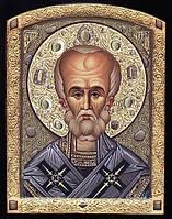 Икона Николая Чудотворца с камнями, фото 1