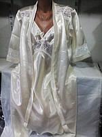 Женский шелковый комплект 52-56 рр