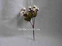 Искусственный  букет английской розы-нов (цвет белый)