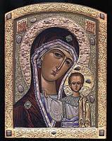 Икона Казанской Божьей Матери с камнями