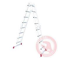 Лестница алюминиевая мультифункциональная трансформер 4x4 ступ. 4,75 м INTERTOOL LT-0029