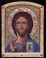 Икона Спасителя с камнями