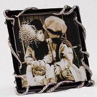"""Рамка для фотографии """"Алмазные нити"""" 15х14 см, для фото 13х13 см"""