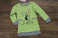 Туника- платье для девочек  4 и 12 лет