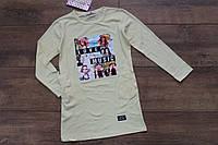 Туника- платье с карманами  4- 12 лет