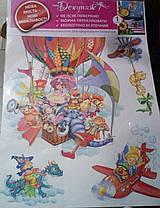 Наклейка, воздушный шар, звери, детская, дитячі  интерьерная Наш Декупаж, фото 2