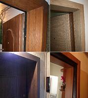 Обшивка откосов входной двери (установка тамбурной коробки из МДФ)