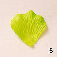 Искусственные лепестки роз (зеленый) №5
