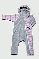 Детский велюровый комбинезон с капюшоном, фото 1