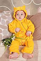 Велюровый слингокомбинезон для новорожденного