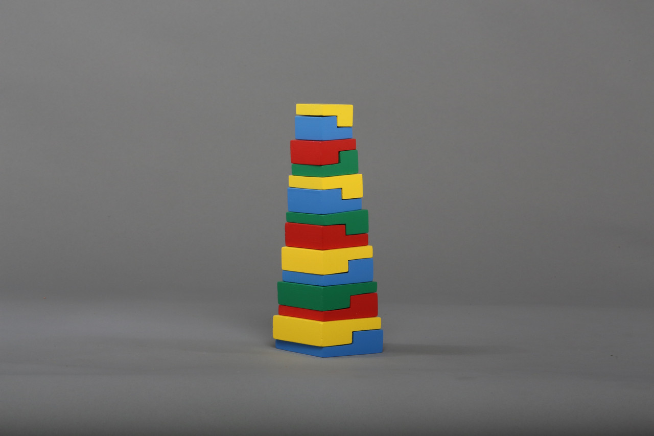 """Пірамідка """"Головоломка"""" 14 елементів Komarovtoys (A334)"""