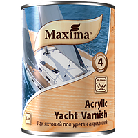 ЛАК ЯХТНЫЙ ПОЛИУРЕТАН - АКРИЛОВЫЙ Maxima Acrylic Yacht Varnish Глянцевый 0,75л