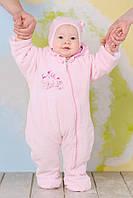 Велюровый детский комбинезон для девочки + шапочка, фото 1