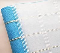 Сетка флористическая Check mesh шотландка голубая