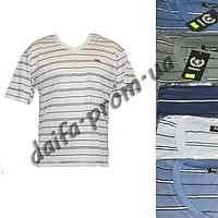 Мужская футболка  БАТАЛ с нагрудным карманом 207m (в уп. до 5 расцветок) оптом со склада в Одессе(7км).