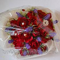 """Ручной букет из конфет """"Бархатные розы"""", фото 2"""
