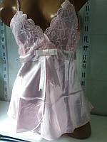 Женский кружевной атласный комплект шорты
