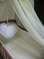 """Постельный набор в детскую кроватку """" Жаккард """"  8 эл.В подарок подвесочка - сердечко!"""