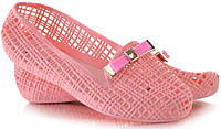 Розовые летние балетки