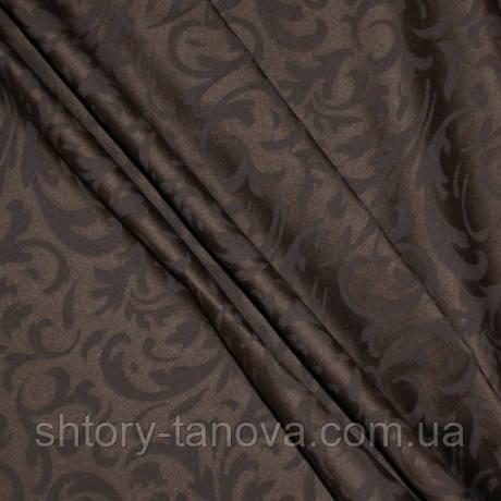 Ткань с пропиткой Хорека завиток Т.КОРИЧНЕВЫЙ грязе и влагозащитная пропитка